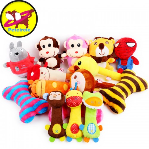 petcircle pet dog toys multicolor plush squeak toy