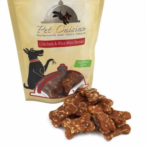 Pet Cuisine Dog Treats Training Snacks Dog Food Puppy Chewy Chicken Rice Mini Bones 100g