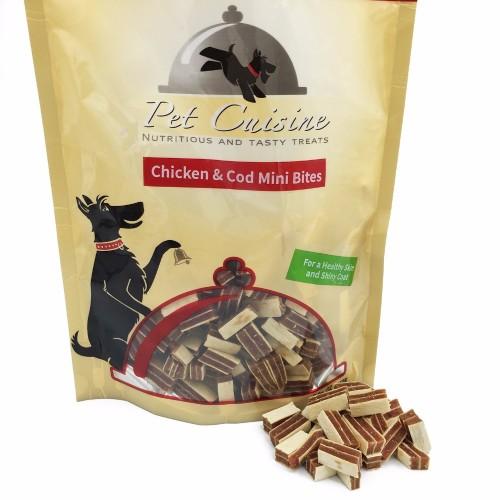 Pet Cuisine Health Dry Food for Small Dog Training Snacks Chicken Cod Mini Bites 250g