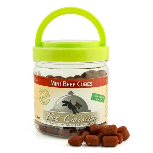Pet Cuisine Premium Dog Treats Training Snacks Dog Food Puppy Chews Mini Beef Cubes 340g