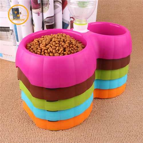 Pet dog Drinking Fountain Food Automatic Water Dish Pet Dispenser Dual Port Dog Automatic Water