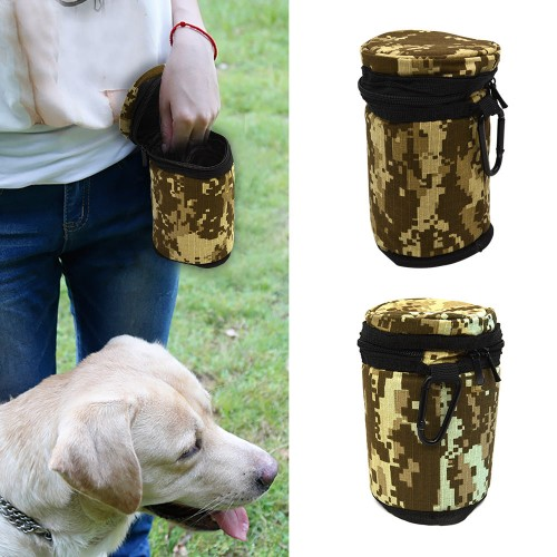 Portable Dog Feeding bag Pet Puppy Pouch Walking Food Treat Snack Bag Detachable food Storage Hold