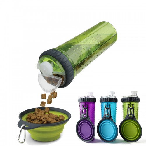 Silicone Travel Bowls Pet Dog Bottle Water Camping Plate Feeder Outdoor Collapsible Drink Foldable Bottle Pet