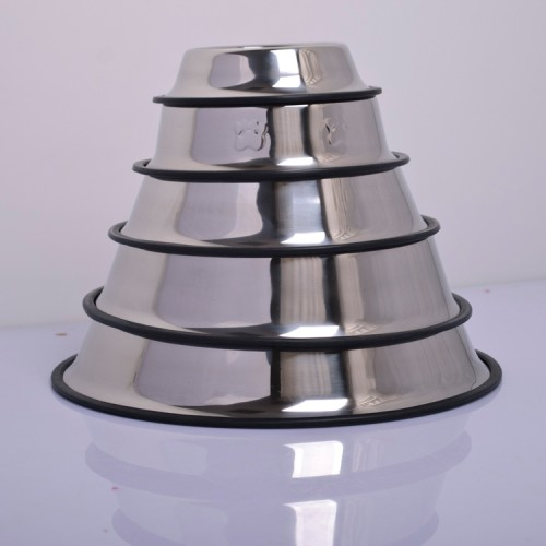 stainless steel dog bowls pet food storage container non skid multi size for small to large