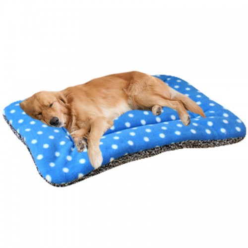 Classic Pet Dog Cat Soft Fleece Mats Dotted Pet Dog Bed Cat Pets Beds Pet House
