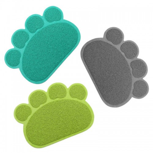 Dog Paw Shape Cup Pet Dog Puppy Cat Feeding Mat Pad Bed Dish