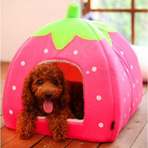 Fashion Small Puppy Dog Cage Super New Soft Pet Dog Cat Rabbit Bed House Kennel Plush Doggy Warm Cushion Basket