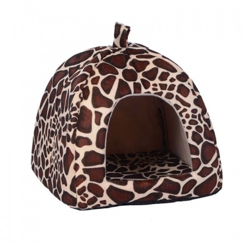 Pet House Foldable Warm Soft Winter Dog Bed Strawberry Cave Dog House