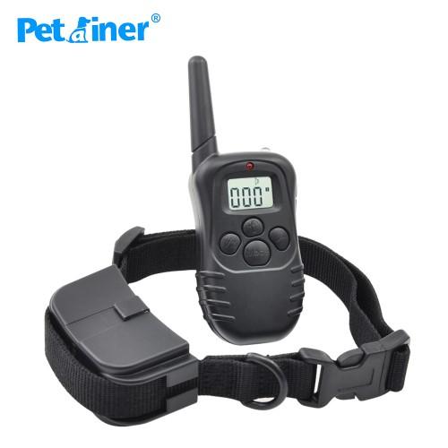 Petrainer 300m Remote Dog Training Collar Electric Shock Anti Bark Training Collar Electric Large