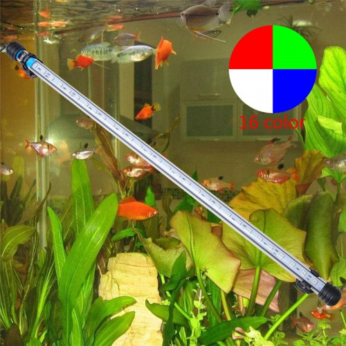 57CM 6 5W 30LED Fish Tank Aquarium LED Light 5050 SMD RGB Light Bar IP68 Waterproof