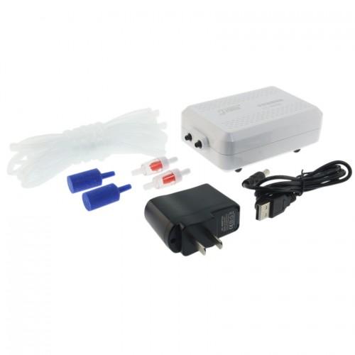 Aquarium pump outdoor lithium battery portable oxygen pump aerator compressor ornamental fish air compressor