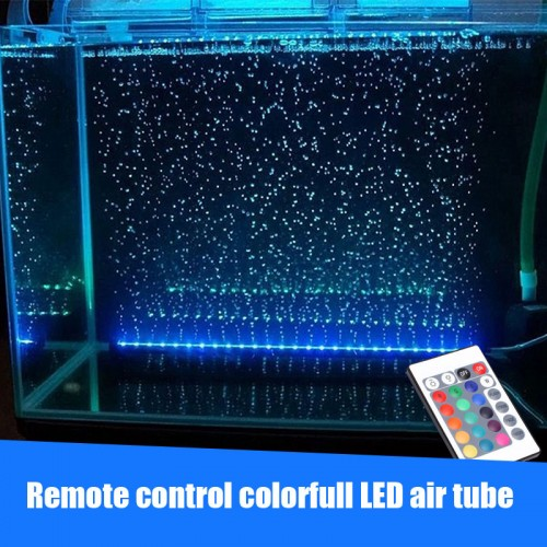 Underwater submersible LED light air stone tube air pump multi color aquarium fish