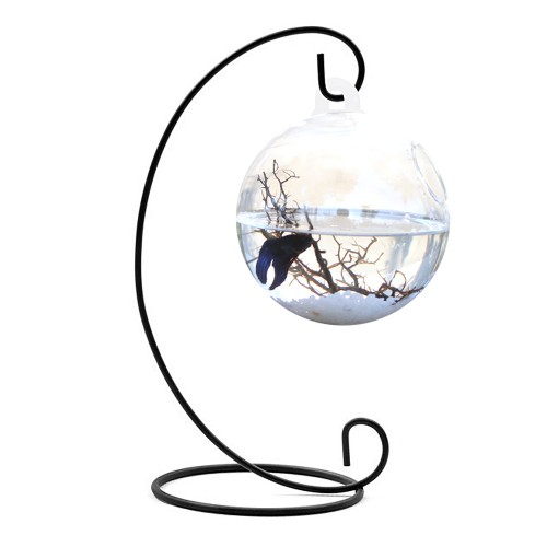 Clear Round Shape Hanging Glass Aquarium Fish Bowl Tank Flower Plant Vase Home Decoration