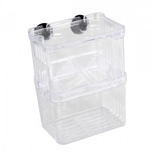 Clear transparent Plastic Aquarium Fish Breeding Box Incubator Isolation
