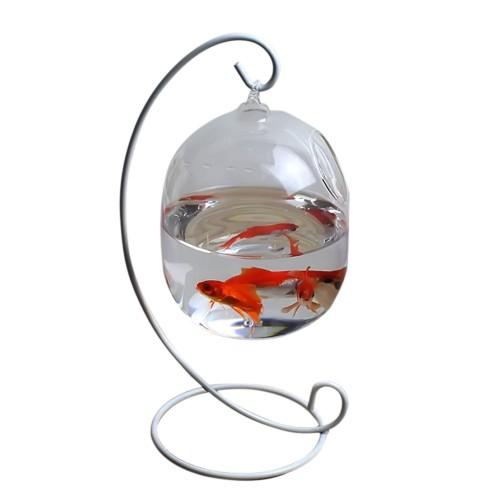 Height Hanging Glass Aquarium Fish Bowl Fish Tank Flower Plant Vase Home Decor