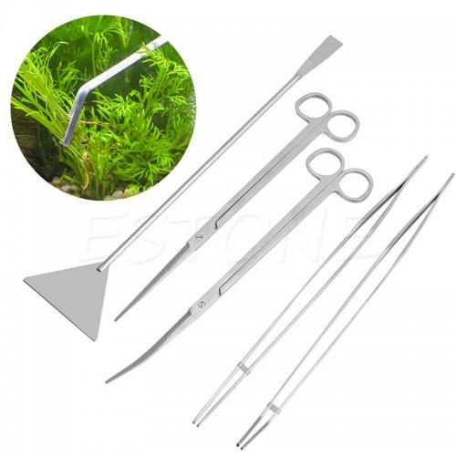 Aquarium Maintenance Tools Kit Tweezers Scissors For Live Plants Grass