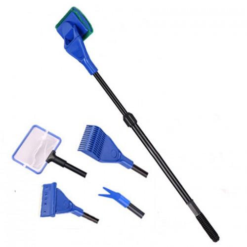 Aquarium cleaning tool multifunctional cleaning brush aquarium tank rake seaweed plants clip
