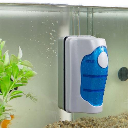 Magnetic Brush Aquarium Fish Tank Glass Algae Scraper Cleaner Curve