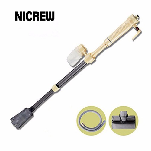 Nicrew Electric Fish Tank Aquario Cleaning Tools Electric Gravel Cleaner Filter Siphon Vacuum Water Change Washer