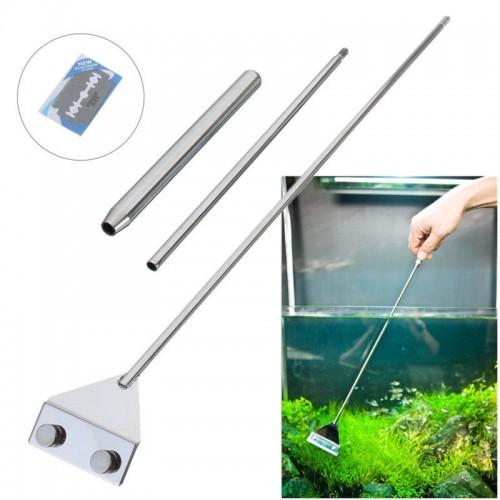 Stainless Steel Aquarium Fish Tank Algae Razor Scraper Blade Aquatic Water Live Plant Grass Cleaning Multi