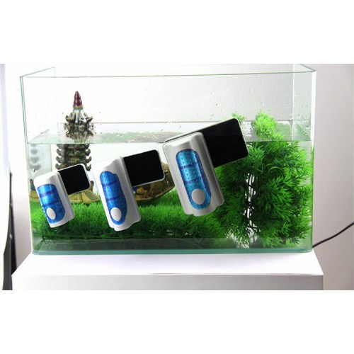 Useful Floating Magnetic Brush Aquarium Fish Tank Glass Algae Scraper Cleaner