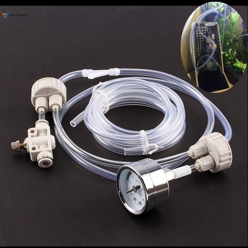Aquarium CO2 Generator System Kit With Pressure Air Flow Adjustment Water Plant Fish Tank Aquarium