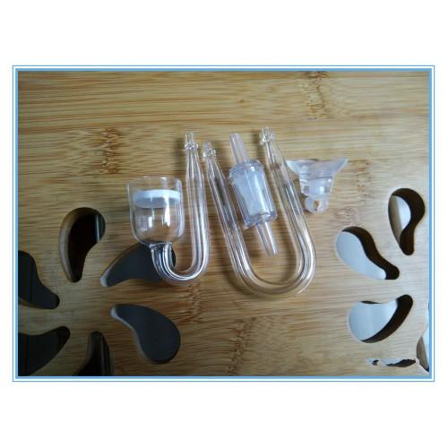 Set fish Aquarium CO2 Diffuser Check Valve Shape Glass Tube Suction Cup