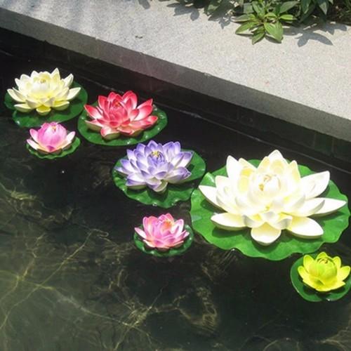 Artificial Plastic Flowers Fake Bouquet Lotus for Wedding Garden Pond Decoration Manualidades Flores Plants