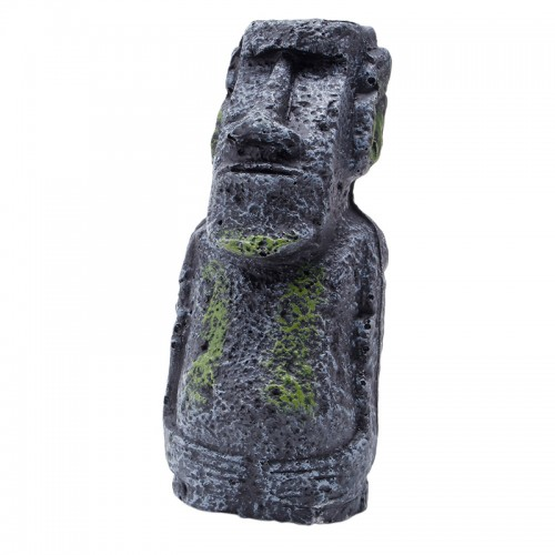 Easter Island Statue Accessory Pipe Fish Tank Aquarium Decoration Ornament New