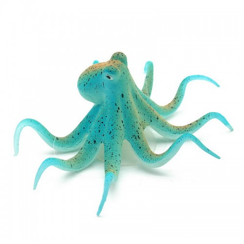 Fluorescent Artificial Octopus Aquarium Ornament Suction Cup Fish Tank Decoration