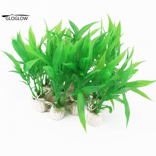 Green Aquarium Plants landscaping Aquarium Tank Plastic Grass Decoration Accessory