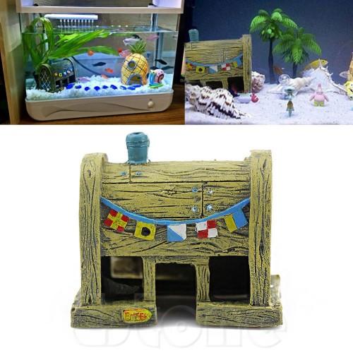 House Aquarium Fish Tank Aquatic Animals Shrimp Cave Ornament Decorations