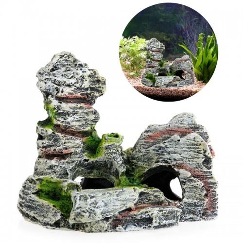 Mountain Aquarium Decoration House Resin Cave Fish Tank Ornament Decoration Landscap Decorative