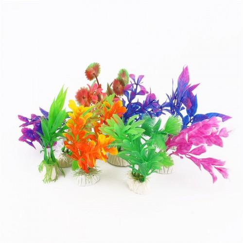Plastic Aquarium Plants Plantas Artificiales Decorative Fish Plant Accessories Aquario Ornament Decor Landscape