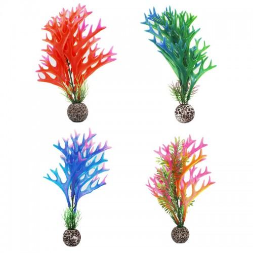Plastic Artificial Aquarium Decoration Plant Grass Fish Tank Plant Coral Decoration Aquarium Accessories