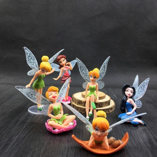 Set Miniature Flying Flower Fairy Aquarium Ornaments Succulent Cartoon Gifts Pokemon Fish Tank Aquarium