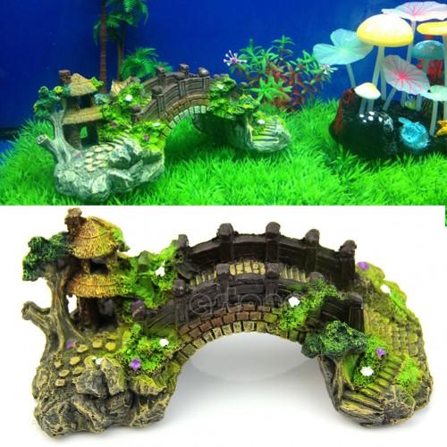 home For Fish Tank Cave Decor Landscape Ornament Water Aquarium Classic Arch Bridge
