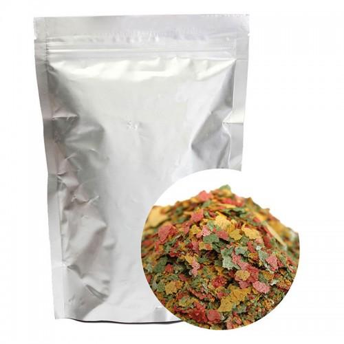 100g Tropical Ornamental Fish Food Goldfish Carp Small Fish Food 3 Color Flakes Feed Fish Products