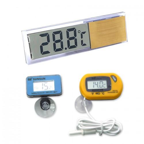 Aquarium thermometer temperature meter LCD Aquarium fixed temperature equipment Electronic Temperature Instruments