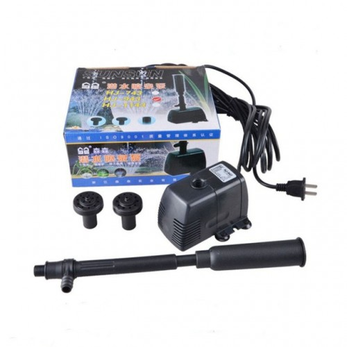 aquairum mini multi function submersible pump fountain oxygen pump for small shallow water fish pond