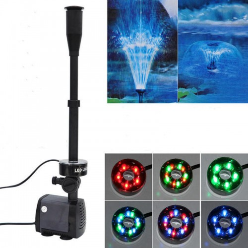 changing LED submersible water pump fountain pump fountain maker for fish pond garden