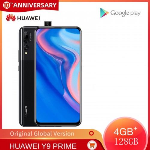 HUAWEI Y9 Prime 2019 Mobile Phone 4GB RAM 64GB 128GB ROM Smartphone 6.59 Inch Screen Cellphone Support Google Pay