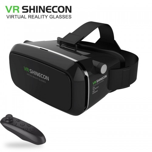 VR Shinecon Bluetooth Virtual Reality 3D Glasses Headset With Remote Controller For 4.0-6.0 Inch Smart Phone