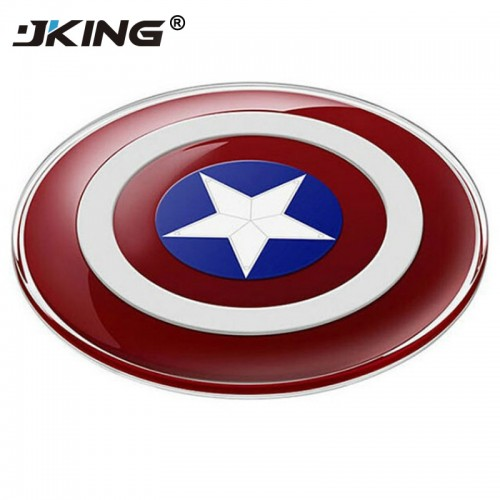 JKING Avengers Universal QI Wireless Charger for iPhone X 8 for Samsung Galaxy S7 S6 S8