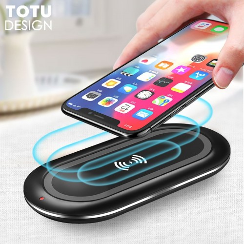 TOTU 10W Wireless Charger For iPhone X 8 Plus Desktop Wireless Charger For Samsung Galaxy S9