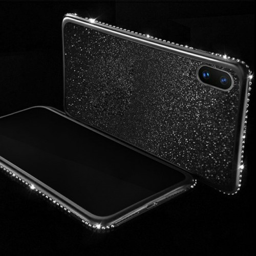 Luxury Plating Bling Diamond Silicone Soft TPU Phone Cover For Samsung