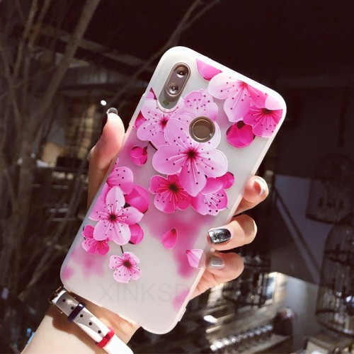 3D Relief Flowers Phone Case For Huawei On Honor 10 7C 7X Case For Huawei On