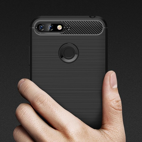 Shockproof Silicone TPU Case For Huawei Honor 7A Pro Soft Silicon Carbon Fiber Full Cover For
