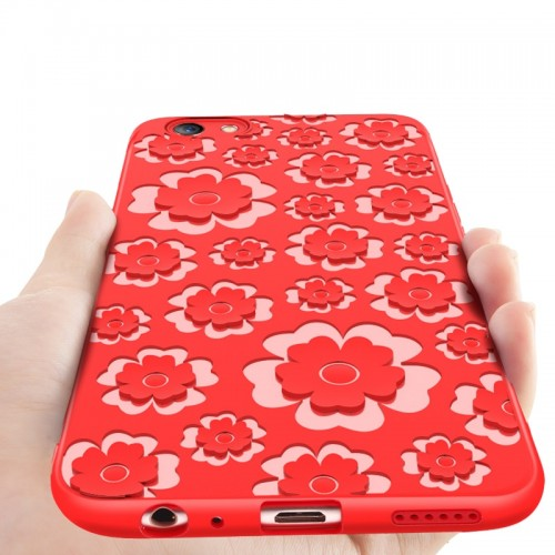 3D Printed Flower Silicone Phone Case for OPPO