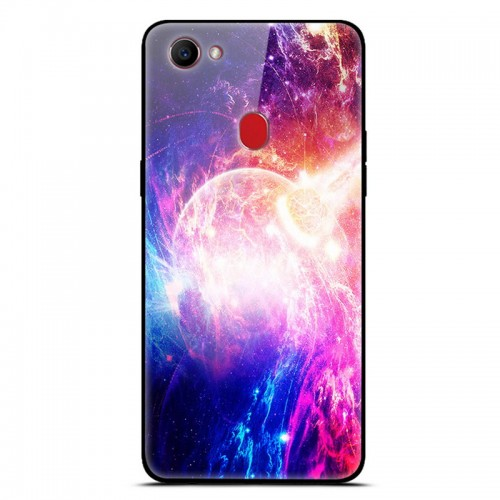 Fashion Glass Back Cover For OPPO Case Hard Cool